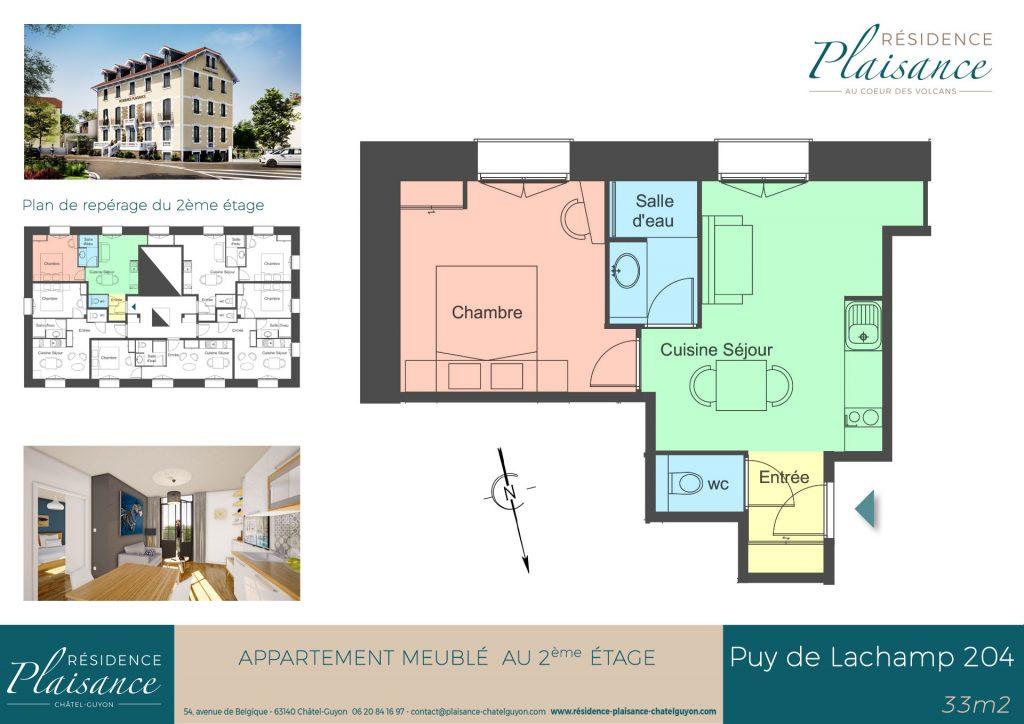 logement cure thermale Châtel-Guyon